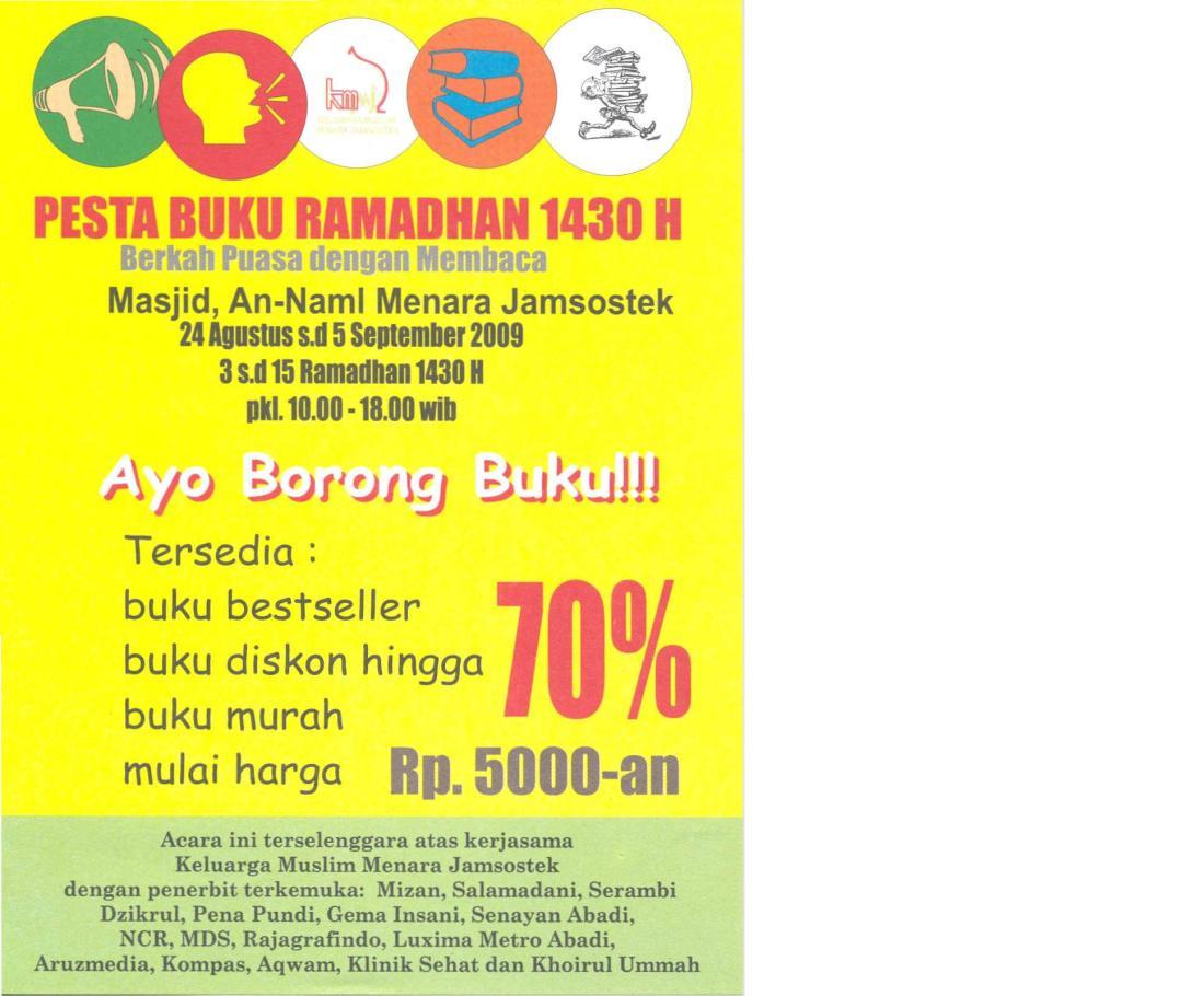 bazar buku ramadhan
